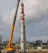 Installation of column equipment, Bisphenol A production plant
